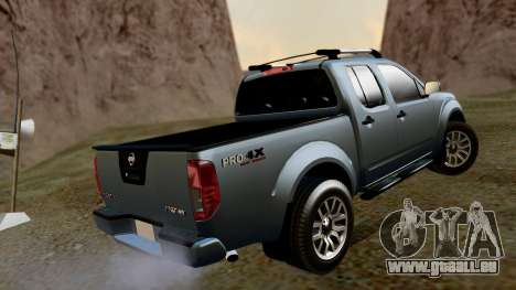 Nissan Frontier PRO-4X 2014 pour GTA San Andreas laissé vue