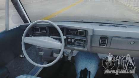 Dodge Dart 1975 v3 Police pour GTA San Andreas vue intérieure
