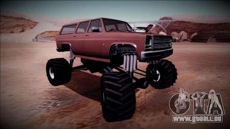 Rancher XL Monster Truck pour GTA San Andreas vue intérieure