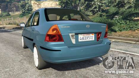 GTA 5 Suzuki Liana arrière vue latérale gauche