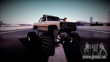 Rancher Monster Truck für GTA San Andreas obere Ansicht