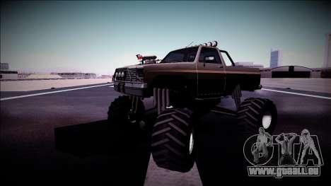 Rancher Monster Truck für GTA San Andreas Unteransicht