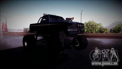 Rancher Monster Truck für GTA San Andreas Rückansicht