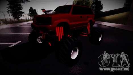 GTA 4 Cavalcade Monster Truck pour GTA San Andreas vue de droite