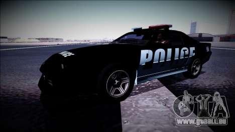 Chevrolet Camaro 1990 IROC-Z Police Interceptor für GTA San Andreas Seitenansicht