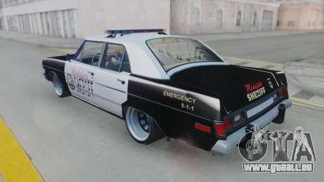 Dodge Dart 1975 v3 Police pour GTA San Andreas vue de droite