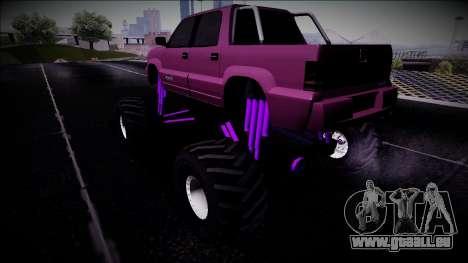 GTA 4 Cavalcade FXT Monster Truck pour GTA San Andreas laissé vue