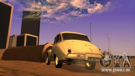 DKW-Vemag Belcar 1001 1964 pour GTA San Andreas sur la vue arrière gauche