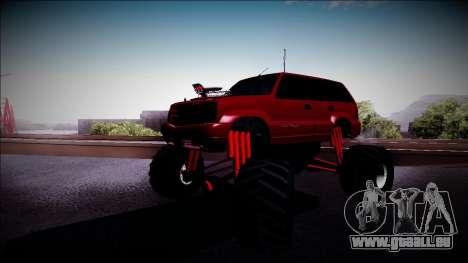 GTA 4 Cavalcade Monster Truck pour GTA San Andreas laissé vue