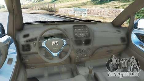 GTA 5 Suzuki Liana arrière droit vue de côté