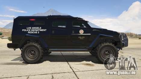 GTA 5 LAPD SWAT Insurgent vue latérale gauche