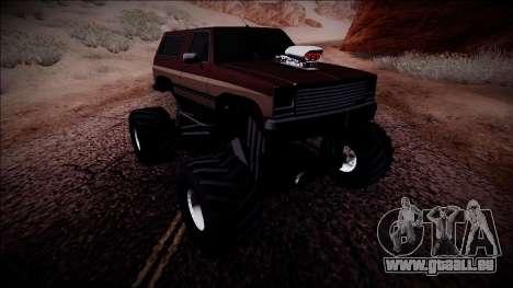 Rancher Monster Truck für GTA San Andreas rechten Ansicht