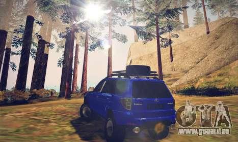 Subaru Forester 2008 Off Road für GTA San Andreas zurück linke Ansicht