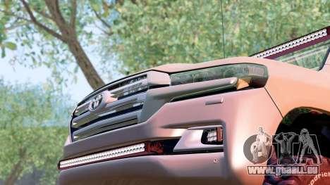 Toyota Land Cruiser 200 2016 für GTA San Andreas rechten Ansicht