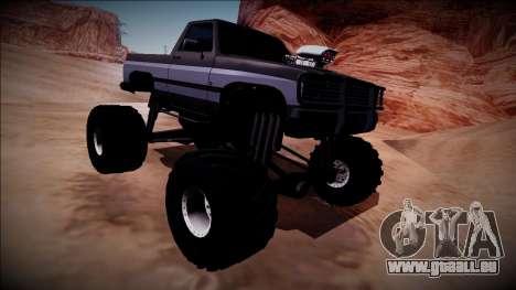 Rancher Monster Truck für GTA San Andreas Innenansicht