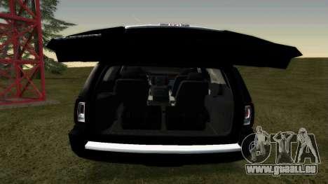 GMC Yukon 2015 pour GTA San Andreas vue de droite