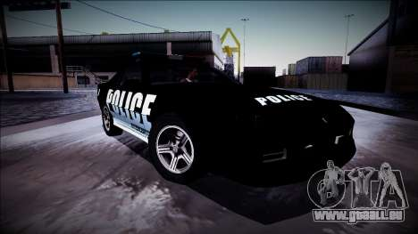 Chevrolet Camaro 1990 IROC-Z Police Interceptor für GTA San Andreas Unteransicht