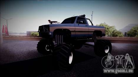 Rancher Monster Truck für GTA San Andreas linke Ansicht