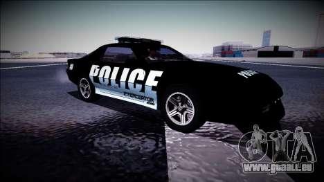 Chevrolet Camaro 1990 IROC-Z Police Interceptor für GTA San Andreas Innenansicht