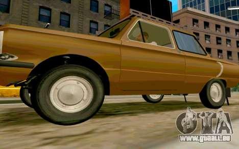 ZAZ 968 pour GTA San Andreas laissé vue
