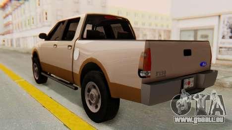 Ford F-150 2001 pour GTA San Andreas sur la vue arrière gauche