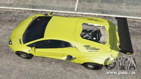 GTA 5 Lamborghini Aventador LP700-4 [LibertyWalk] v1.0 Rückansicht