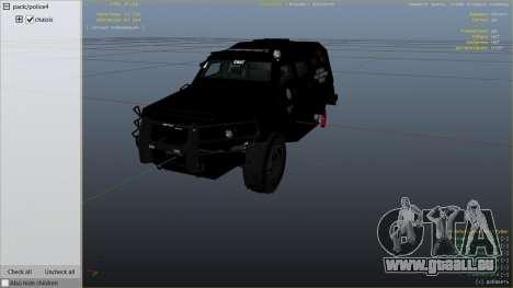 GTA 5 LAPD SWAT Insurgent droite vue latérale