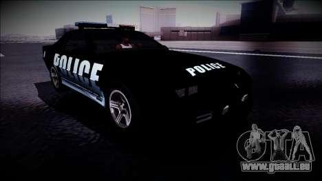 Chevrolet Camaro 1990 IROC-Z Police Interceptor für GTA San Andreas rechten Ansicht