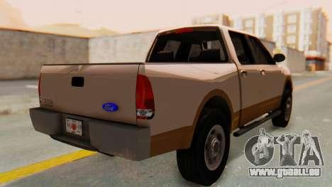Ford F-150 2001 pour GTA San Andreas laissé vue