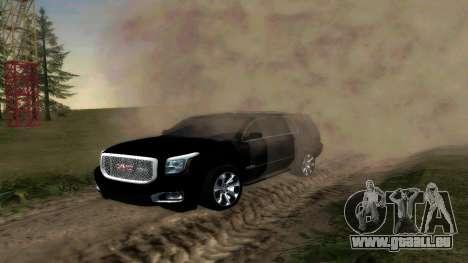 GMC Yukon 2015 pour GTA San Andreas laissé vue