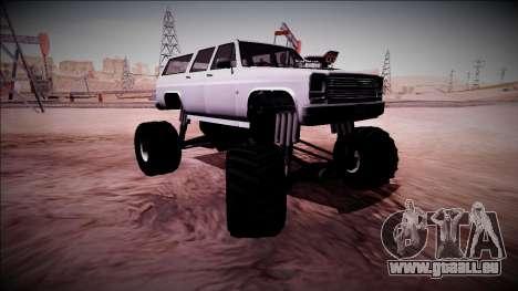 Rancher XL Monster Truck pour GTA San Andreas vue de dessous