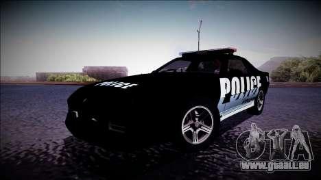 Chevrolet Camaro 1990 IROC-Z Police Interceptor für GTA San Andreas linke Ansicht