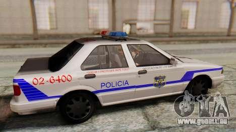 Nissan Sentra B13 2004 Patrol with a Salvadoran  für GTA San Andreas rechten Ansicht