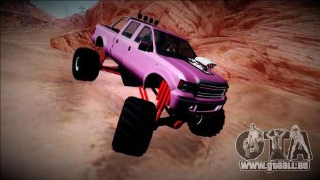 GTA 5 Vapid Sadler Monster Truck pour GTA San Andreas vue arrière
