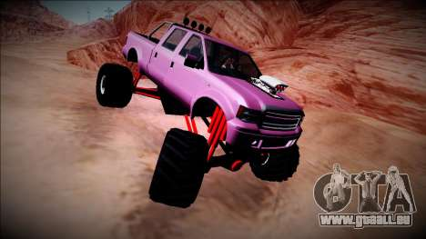 GTA 5 Vapid Sadler Monster Truck für GTA San Andreas Rückansicht