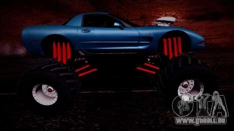 Chevrolet Corvette C5 Monster Truck pour GTA San Andreas vue de dessus