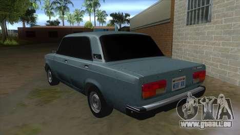 VAZ 2107 v1 pour GTA San Andreas sur la vue arrière gauche