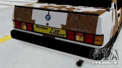 Tofas Dogan Modified pour GTA San Andreas vue arrière