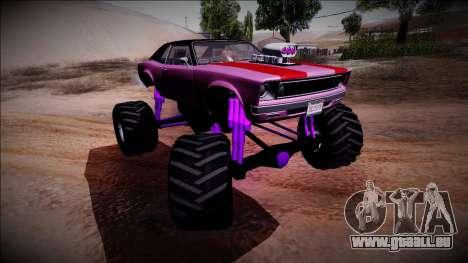 GTA 5 Declasse Tampa Monster Truck pour GTA San Andreas vue de dessus