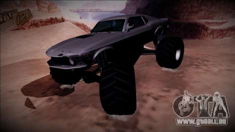 1970 Ford Mustang Boss Monster Truck pour GTA San Andreas vue arrière