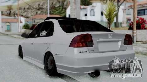 Honda Civic Vtec Special pour GTA San Andreas laissé vue