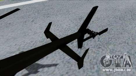 MH-9 Hummingbird Recon für GTA San Andreas zurück linke Ansicht