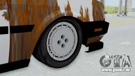 Tofas Dogan Modified pour GTA San Andreas sur la vue arrière gauche
