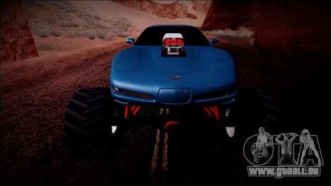 Chevrolet Corvette C5 Monster Truck pour GTA San Andreas salon