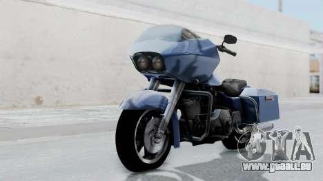 Harley-Davidson Road Glide pour GTA San Andreas sur la vue arrière gauche