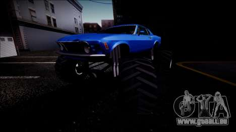 1970 Ford Mustang Boss Monster Truck pour GTA San Andreas roue