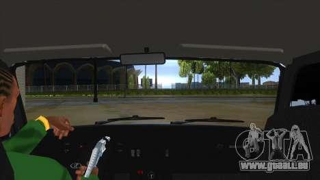 VAZ 2107 v1 pour GTA San Andreas vue intérieure