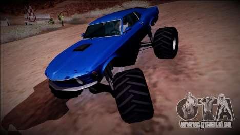1970 Ford Mustang Boss Monster Truck für GTA San Andreas Motor