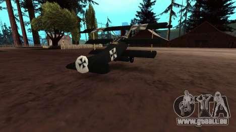 Fokker Dr1 triplane für GTA San Andreas Innenansicht