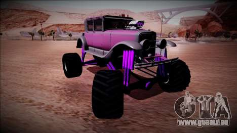 GTA 5 Albany Roosevelt Monster Truck für GTA San Andreas Rückansicht